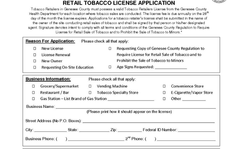can felon get tobacco license