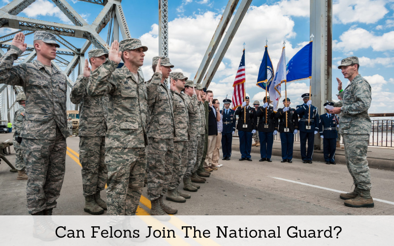 can felons join the national guard