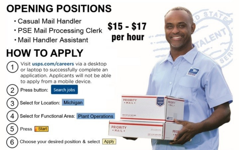 can felon work at post office