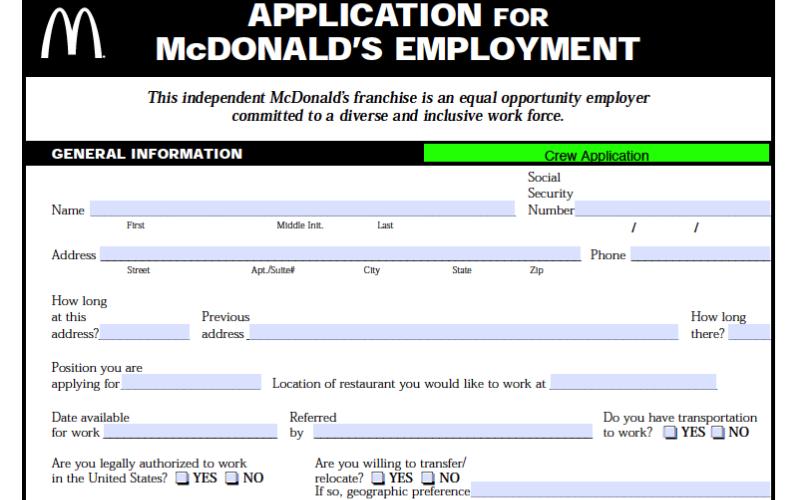 does the mcdonalds drug test g